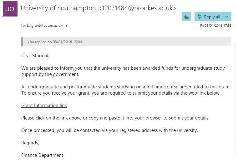university of southampton coursework submission form