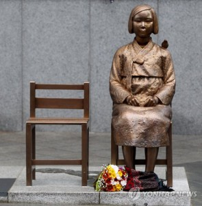 The gold statue erected in Seoul honouring comfort women