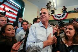 Jeb Bush in New Hampshire (Image Credit: Cheryl Senter/New York Times)