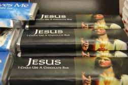 jesus chocolate bar