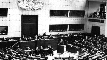 24.1.1967 Bundesminister Willy Brandt Versammlung des Europarates in Straßburg