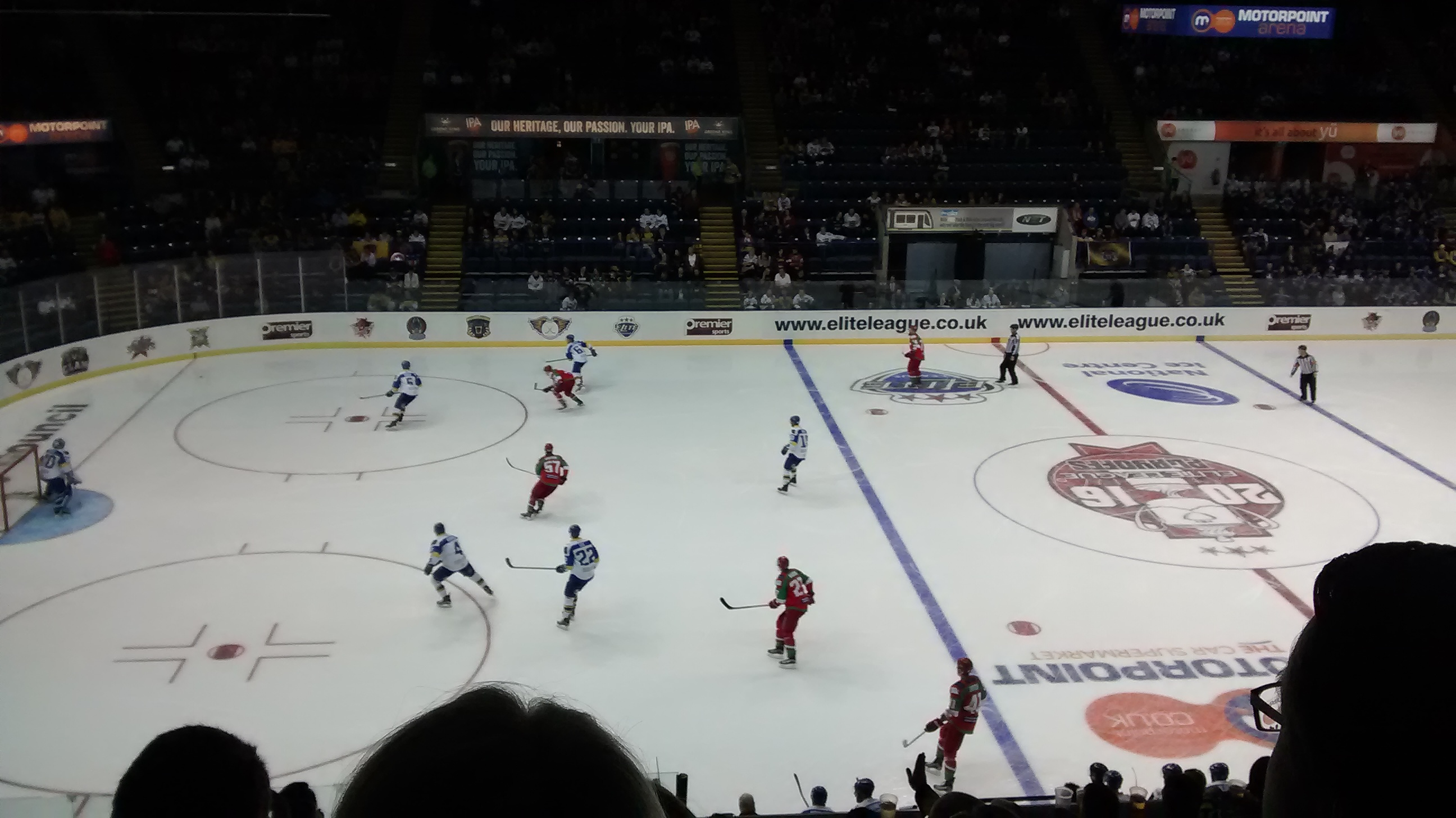 Cardiff in action against Fife in their 6-0 victory.