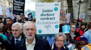 Corbyn shows his personal support, towards the dire situation that currently faces Junior Doctors. source:home.bt.com