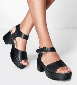 Julia Peeptoe Two Part Cleated Sandal, Boohoo