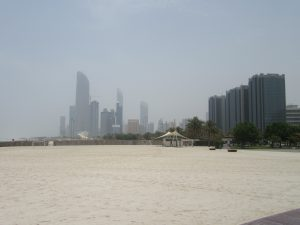The skyline from across the Corniche