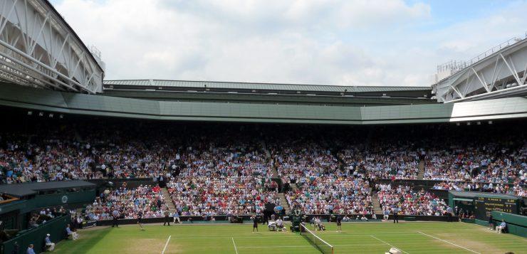 Centre Court at Wimbledon.
