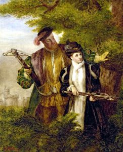 Portrait of Anne and Henry deer-hunting [Wikipedia]