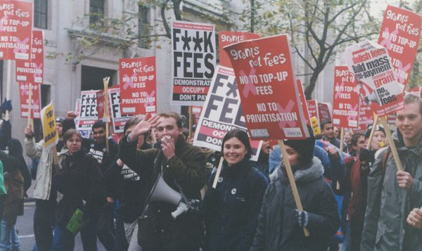 Students protesting against tuition fees