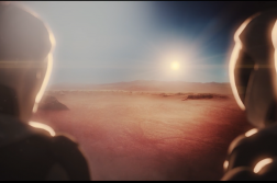Humans arriving on Mars. Credit: SpaceX