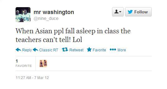 A cruel, discriminatory tweet. Credit: columbiaspectator.com