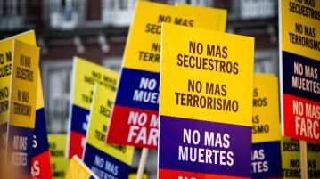 Anti FARC protests in Madrid