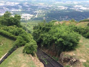Top of the Incline in Chattanooga, before a scrumptious lunch a few miles away.