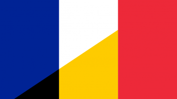 France and Belgium flags