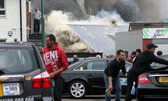 Firefighters Tackle Huge Blaze Near Jesters
