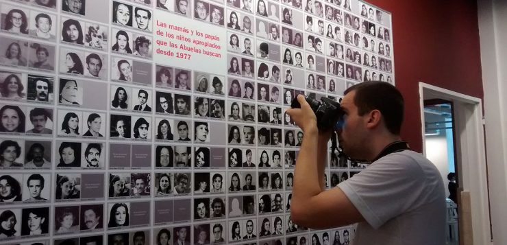 Wall showing the disappeared during Argetina's last military dictatorship