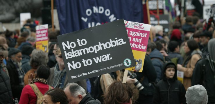 Islamophobia demonstration