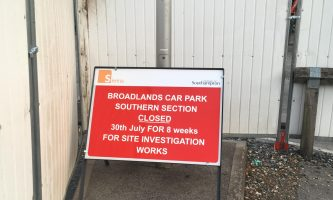 University of Southampton Broadlands Car Park Southern Section Closed for 8 Weeks