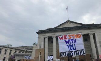 Black Lives Matter Protest Takes Place Outside Southampton Guildhall